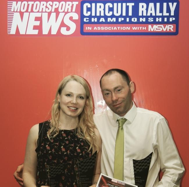 Ashleigh and co-driver Jamie collected their trophy earlier in the month