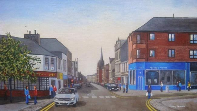 Alloa Art Club will produce a number of townscapes next week