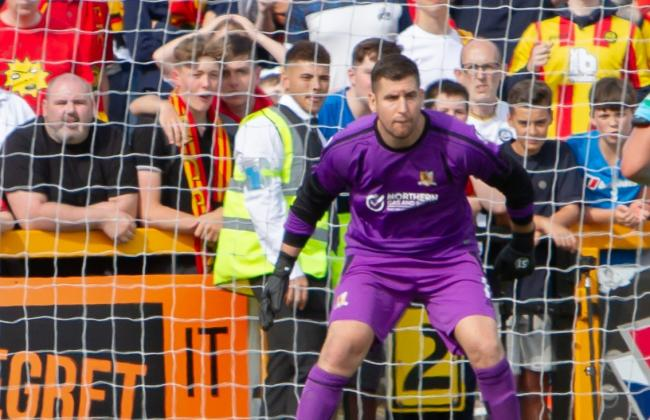 Neil Parry was the pick of the bunch for Alloa as they lost 4-1 on Saturday. Pic by John Howie