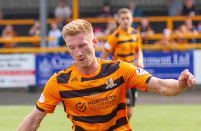 STAR MAN: Liam Dick was the pick of the bunch for Alloa as they were beaten by fellow part-timers Arbroath at the Indodrill on Saturday. Pic by John Howie