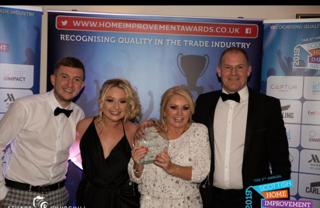 Corrinne Muir won the award for 'Best Interior Design Company'