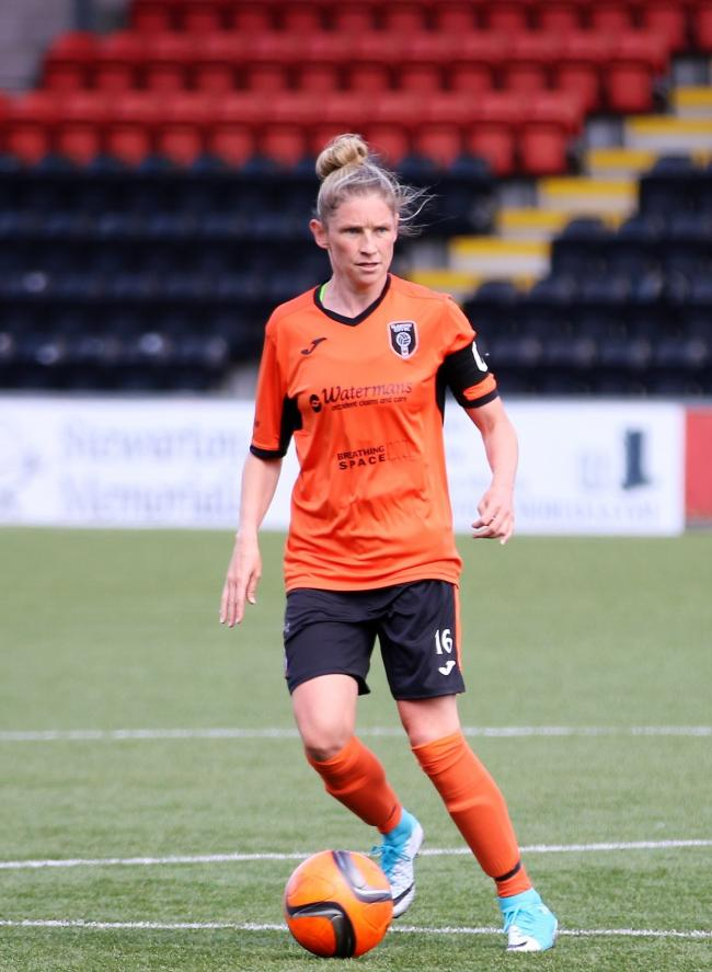Leanne Ross playing for Glasgow City