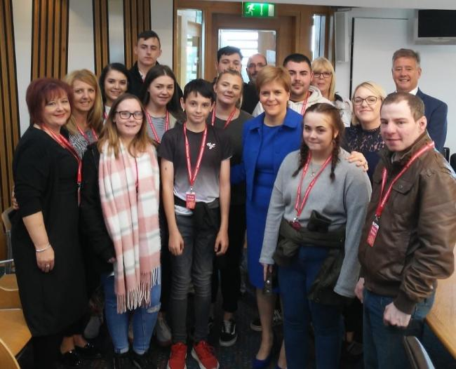 Members of Oor Clacks Voices were hosted at the venue by Keith Brown MSP and Ellen Forson