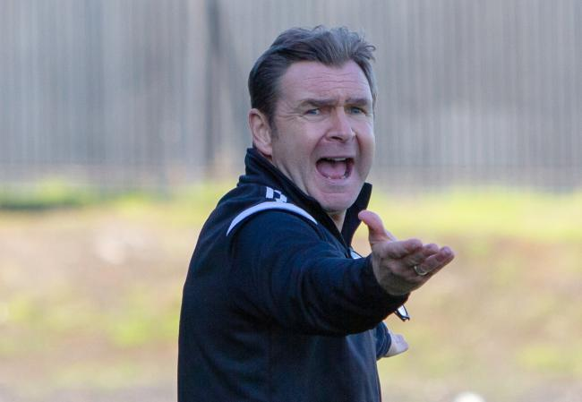 IRATE: Peter Grant was incensed by the performance of the referee on Saturday, Pic by John Howie