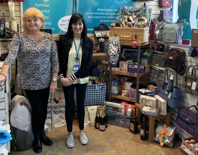 Strathcarron Hospice is raffling off prizes which have been donated by locals