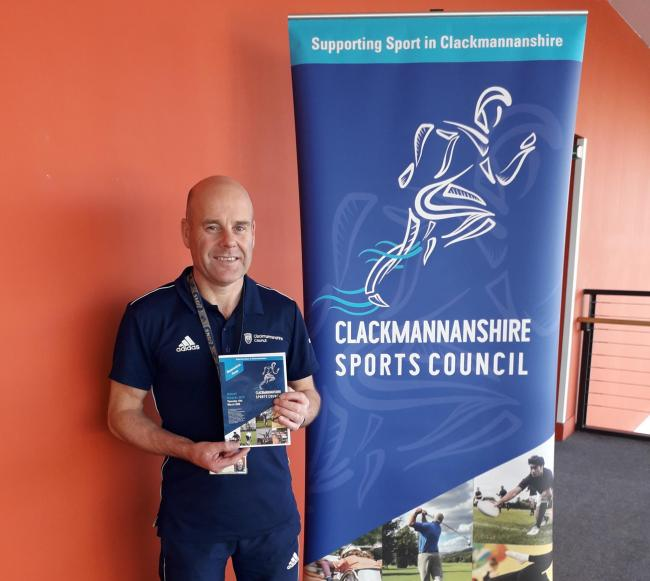 Kenny Cook from the Clackmannanshire Sport Council