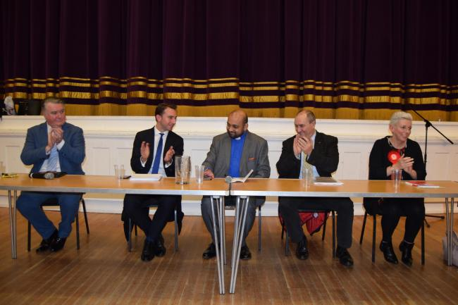 Four of the five candidates attended the hustings