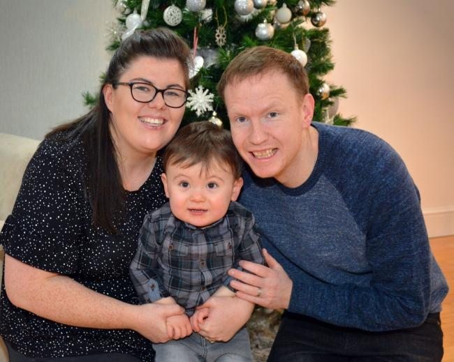 WINNER: Archie (pictured with mum Stacey and dad Martyn) is the 2019 Bonnie Babies winner. Picture by Jan van der Merwe