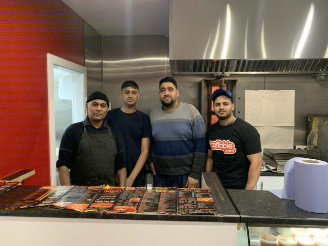 Goga, Adim, Majid and Bilal, the staff at the Chilli Express, are all delighted to have finally opened back up