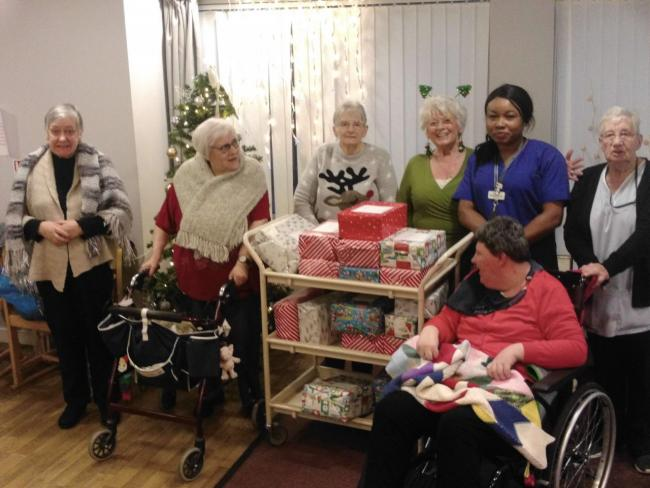 The presents were kindly donated by staff and residents' family members