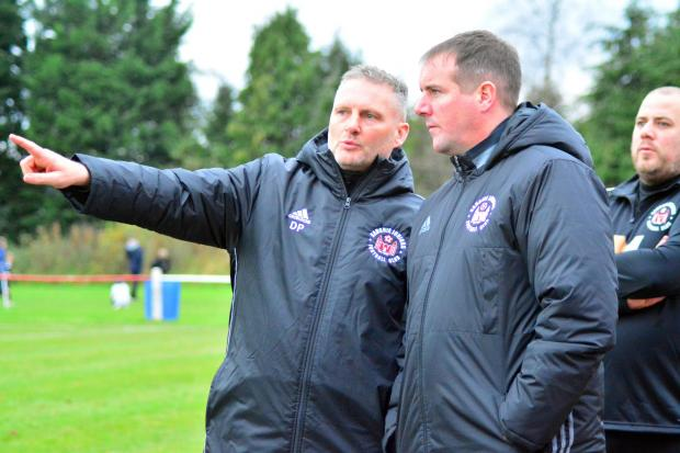 Alloa and Hillfoots Advertiser: It's an exciting time for boss Fraser Duncan (right) and assistant Davie Beaton