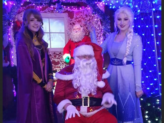 Santa and Elsa and Anna stopped by the Winter Wonderland this year to chat and take pictures with the visitors