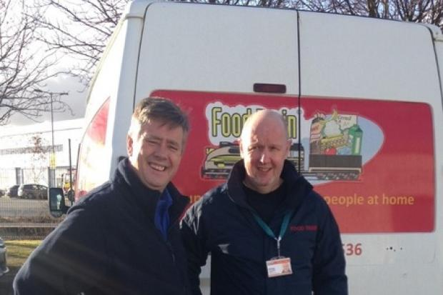 Keith Brown gave his support to the Food Train service, operating in the area