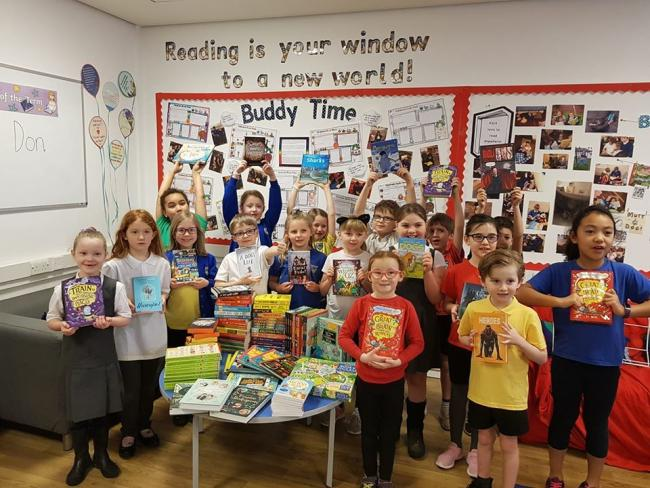 Delighted Strathdevon PS pupils have recieved more than £2,000 in books