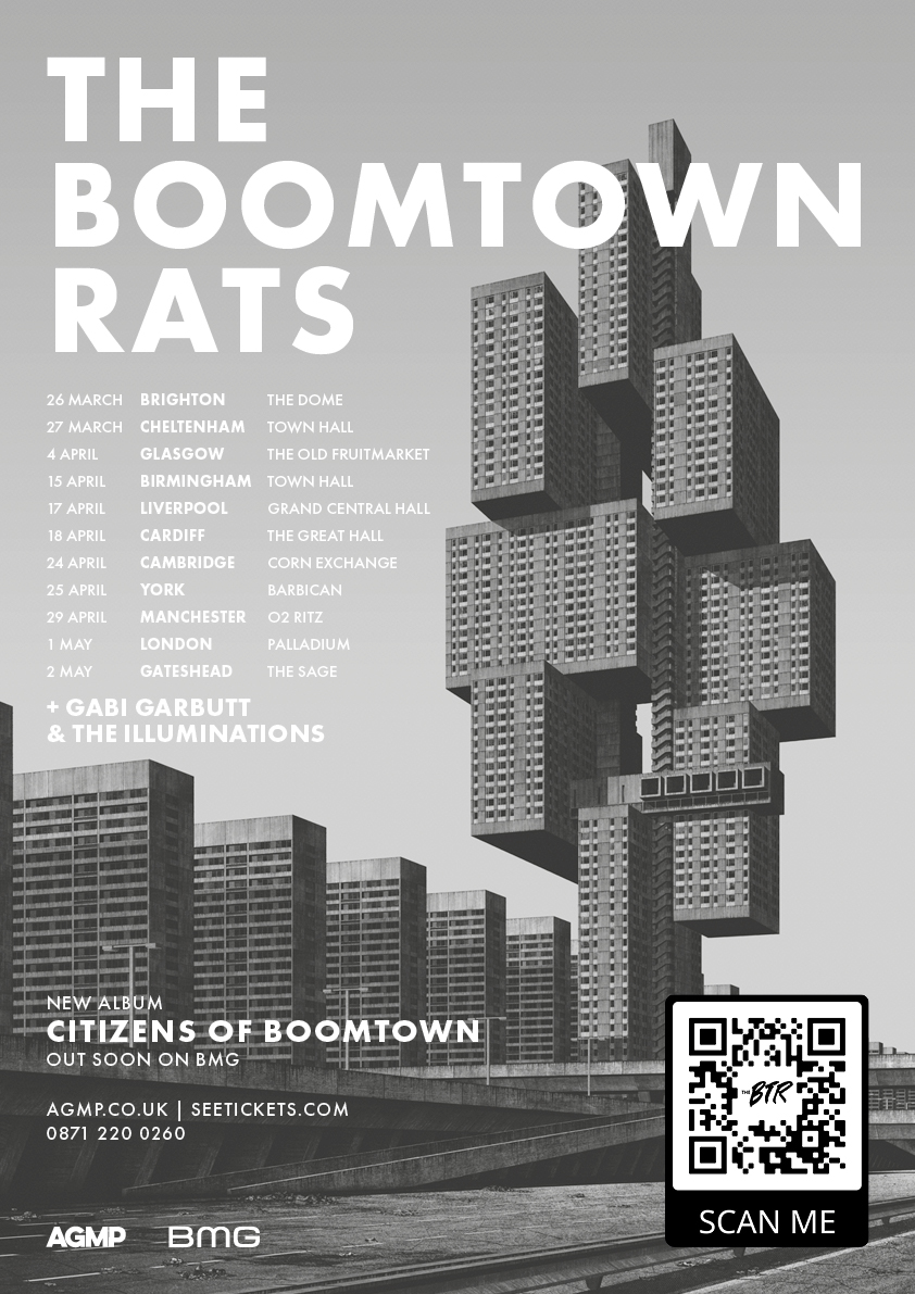 The Boomtown Rats, 'Citizens of Boomtown,' UK Tour.