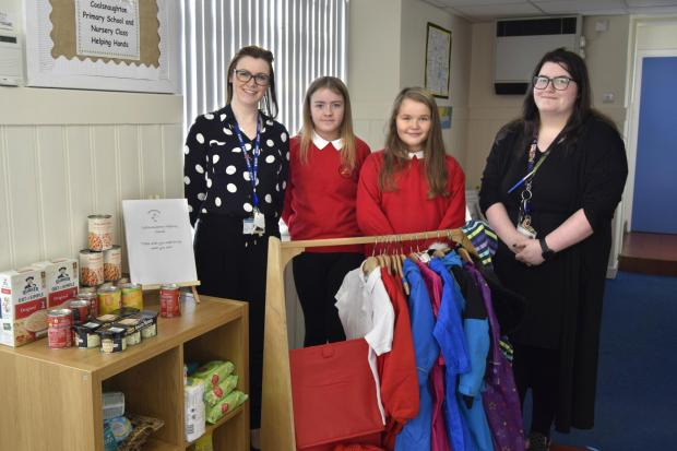 Pupils and staff worked together to kick-start the Helping Hands initiative at Coalsnaughton Primary School and Nursery Class