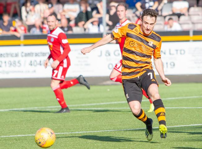 Kevin Cawley in action for Alloa. Picture by John Howie