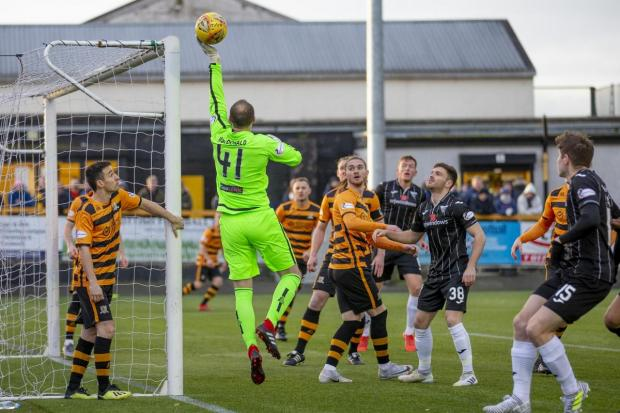 Alloa and Hillfoots Advertiser: Blair Malcolm in action for Alloa last season