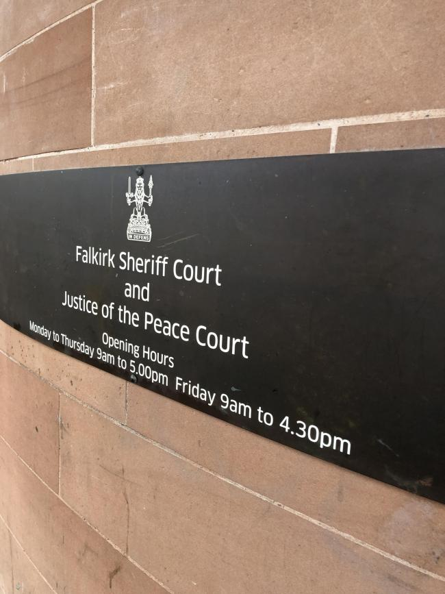 The case called at Falkirk Sheriff Court last week