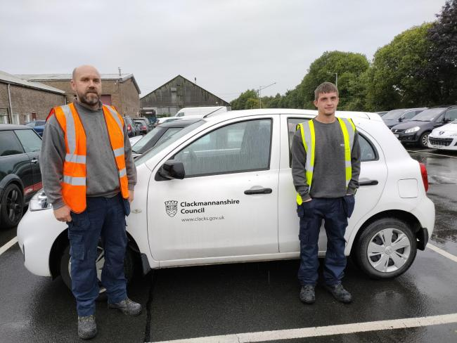 Stephen Lamb and Mark Allan received praise for helping to save the man's life, despite having no first aid training - Picture by Clackmannanshire Council