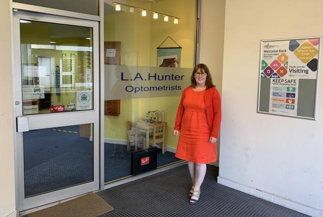 Optometrist Linda Hunter has seen a number of interesting cases during lockdown, providing an emergency eyecare hub in Alloa