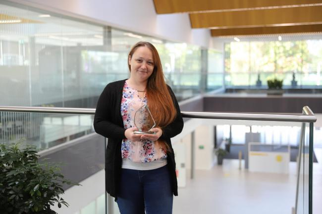 OUTSTANDING TALENT: Sam Hudson from Tullibody was named Student of the Year 2020 at Forth Valley College