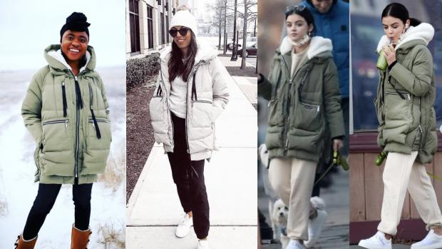 Alloa and Hillfoots Advertiser: Lucy Hale has worn her Amazon Coat multiple times. Credit: Instagram @theamazoncoat/@olive_w123