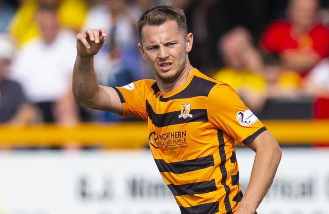Scott Taggart in action for Alloa Athletic
