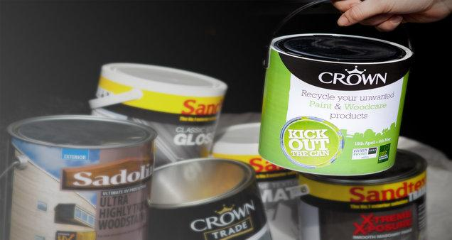 Recycle Surplus Paint With Crown Decorator Centre Alloa