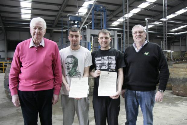 Alloa and Hillfoots Advertiser: Ian Sweeney and Steven Langlands are now fully qualified after a four-year-apprenticeship