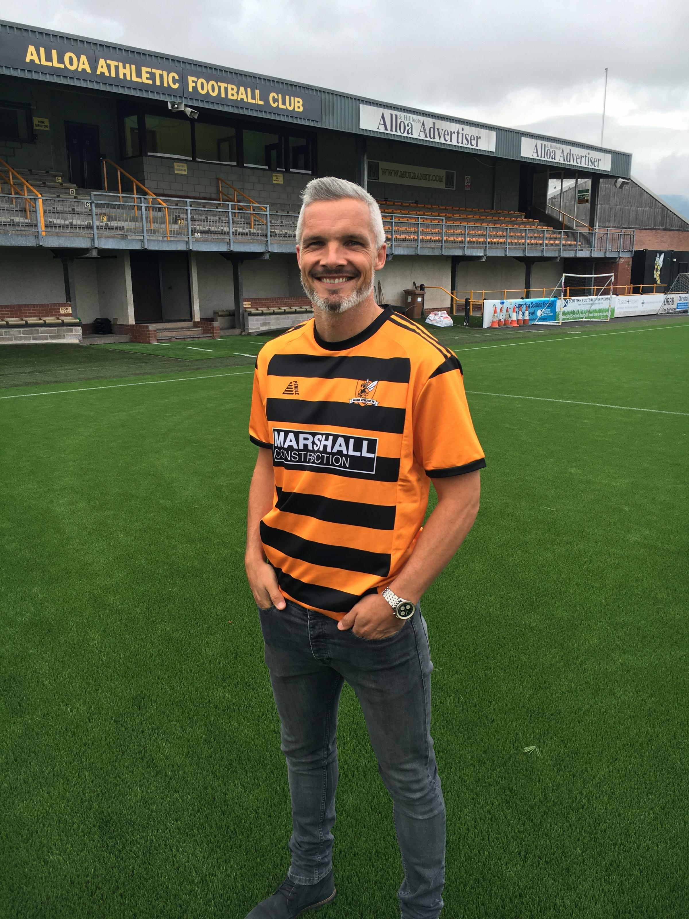 Alloa Athletic new boy Jim Goodwin