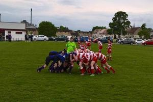 Alloa RFC under 14 team in action