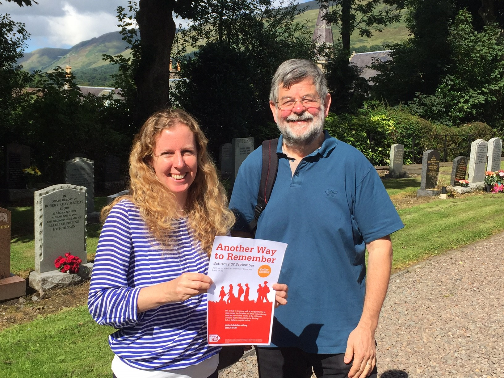 Jo Dallas and Iain Ogilvie at Dollar Parish Church