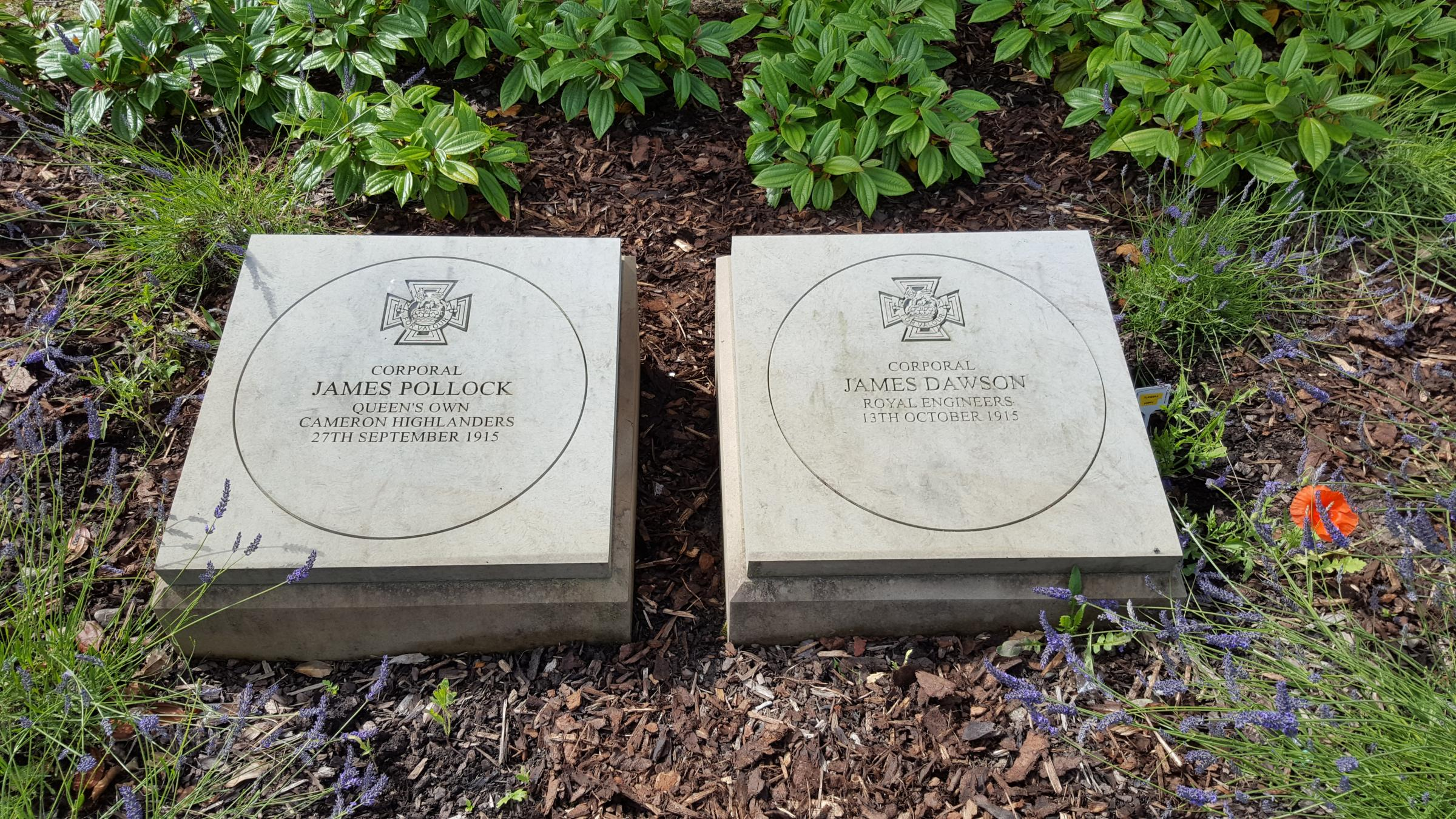 FITTING TRIBUTE: The memorial to cousins James Pollock and James Dawson in Tillicoultry