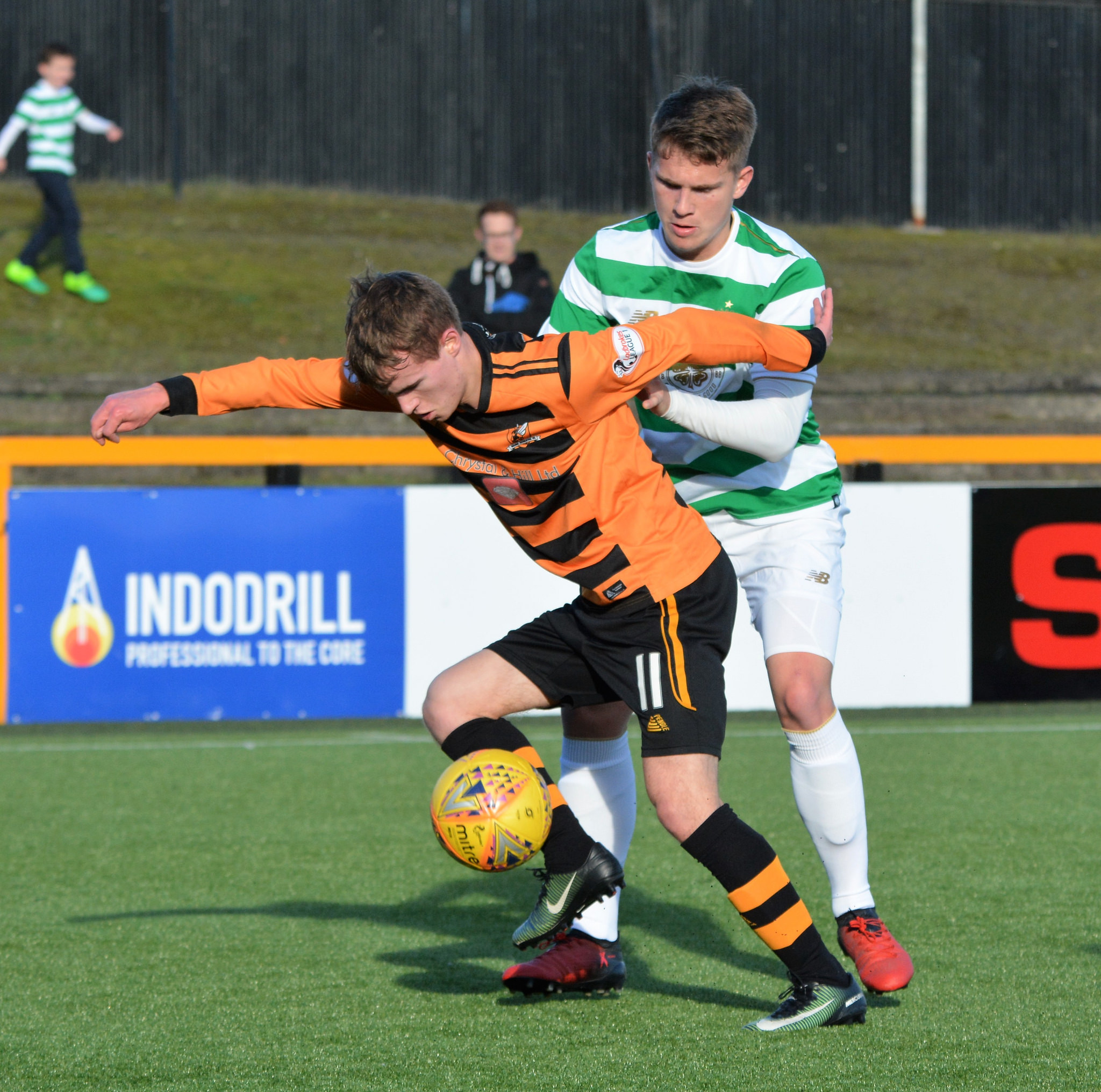 Adam Martin during Alloa U20s youth cup clash with Celtic