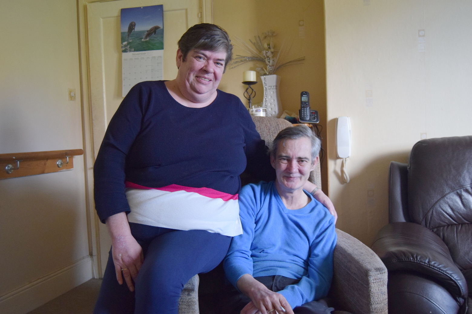 FIGHTING ON: Sauchie couple Robert and Allyson Campbell are hoping to raise awareness about how families cope with stroke