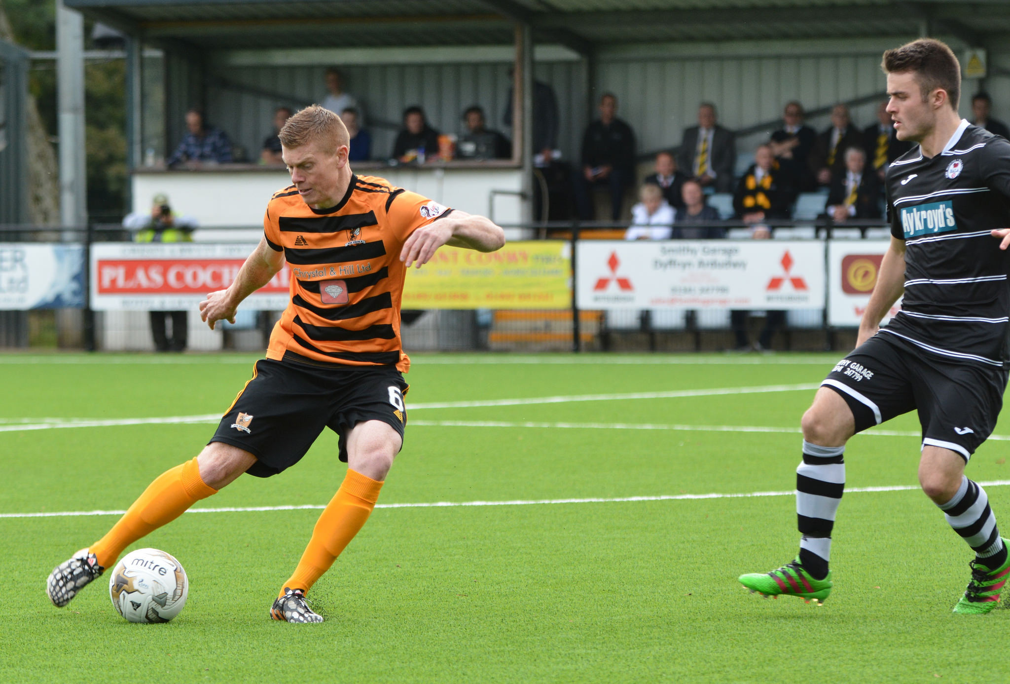 DETERMINED: Jon Robertson in action for Alloa