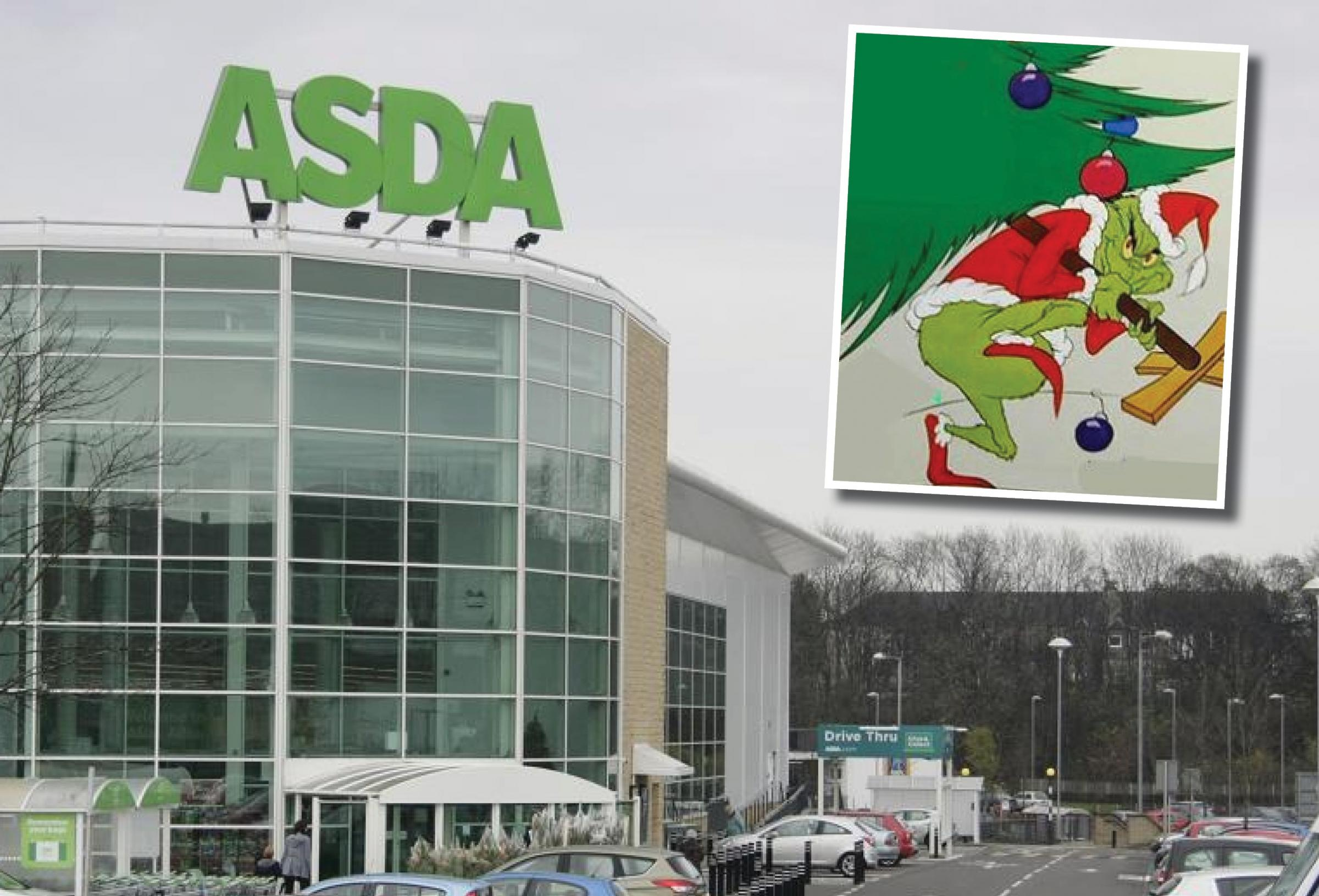 Tree Theft Two Man Pinched A Christmas Tree From Asda Last Weekend