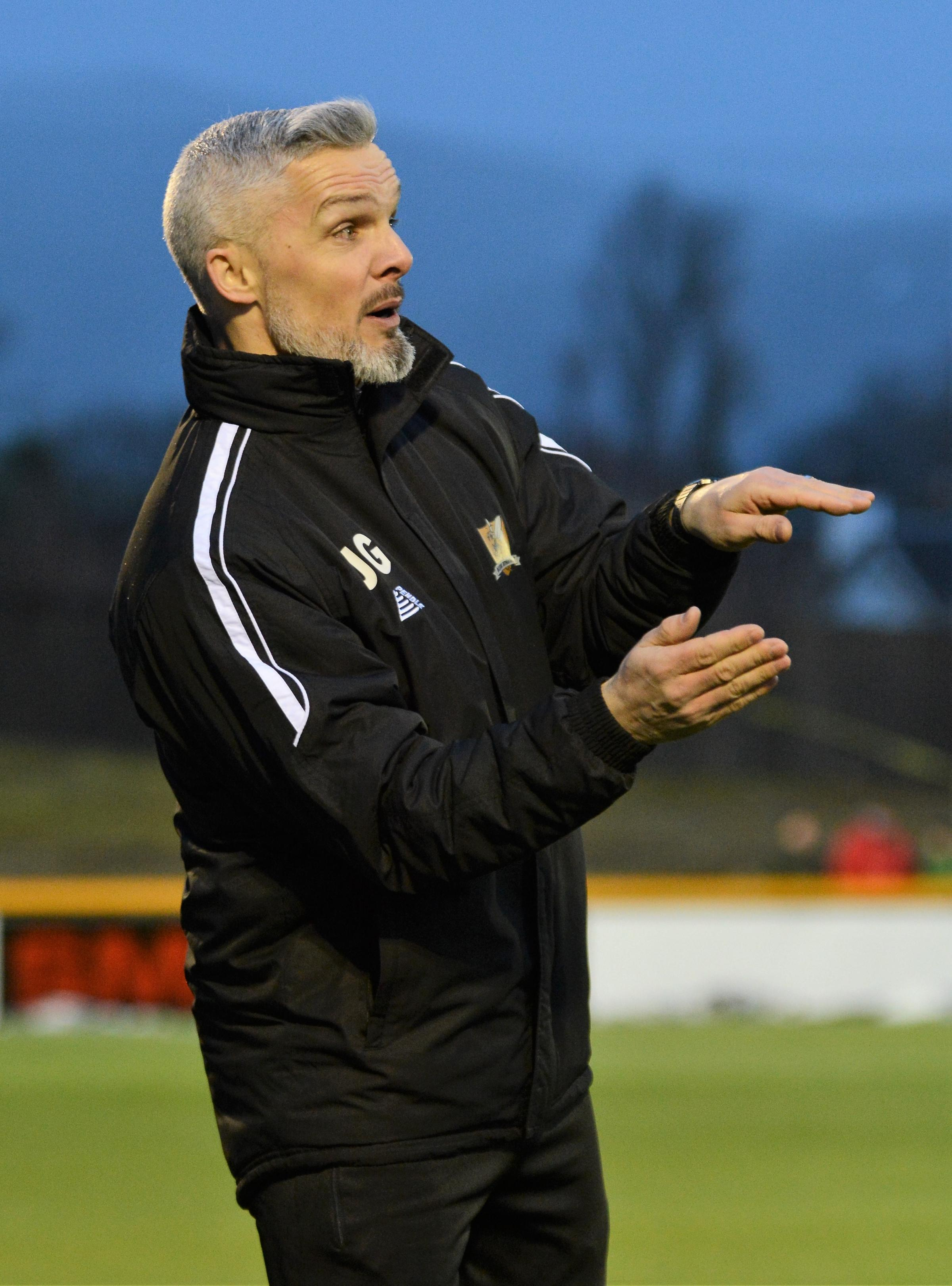 STRONG DEFENCE: Jim Goodwin is hoping to see his side build on their strong defensive showing