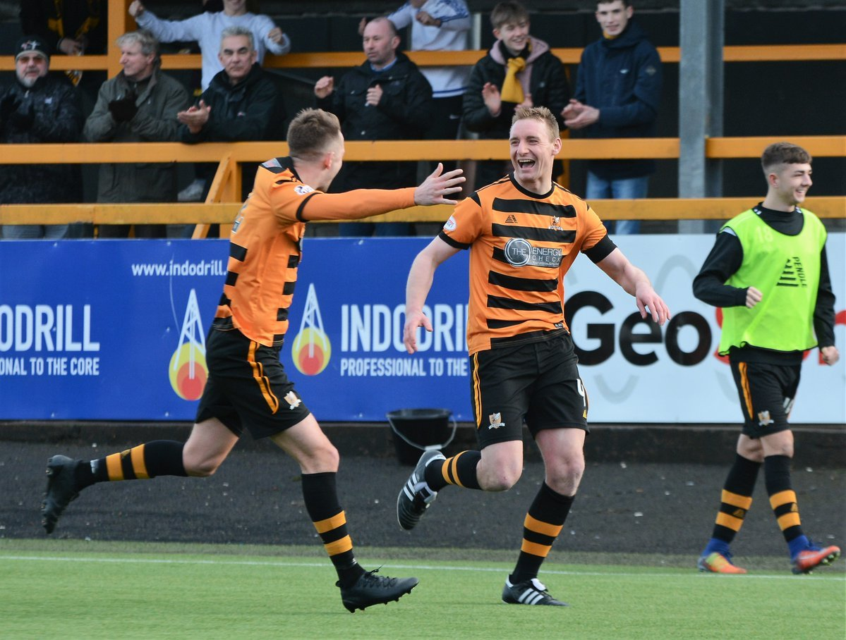 LEAD BY EXAMPLE: Andy Graham sealed the winner for Alloa on Saturday. Picture by David Glencross