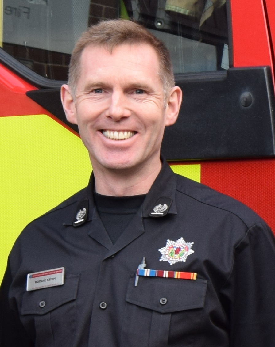 Roddie Keith, local senior officer for Clackmannanshire and Stirling with the Scottish Fire and Rescue Service