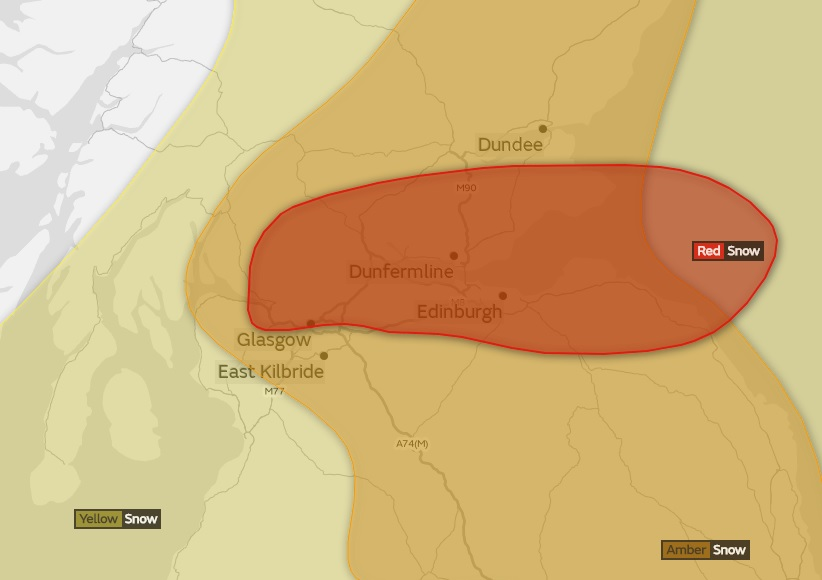 Met Office upgrade weather warning to RED