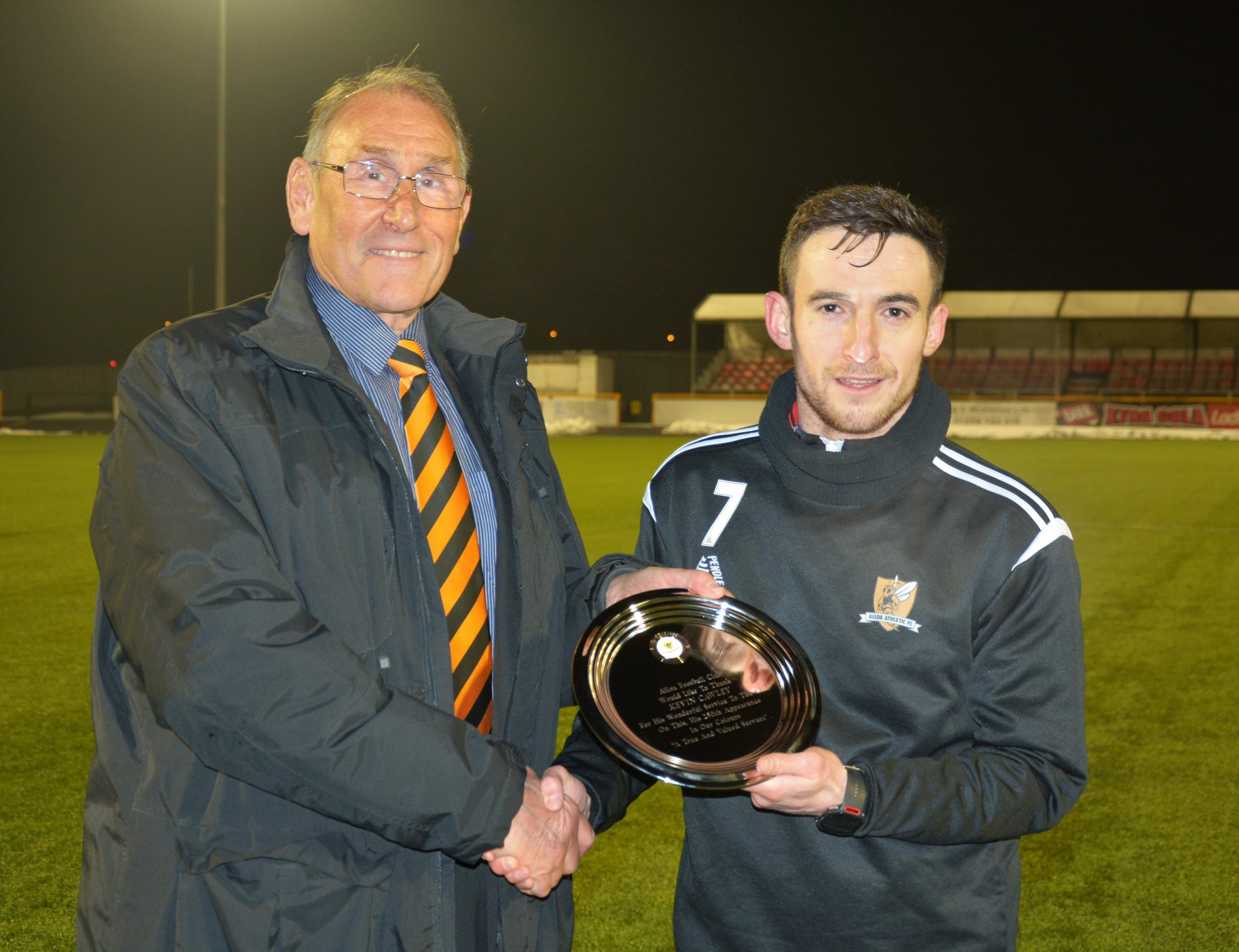 Kevin Cawley made his 250th appearance for Alloa this week. Picture by David Glencross