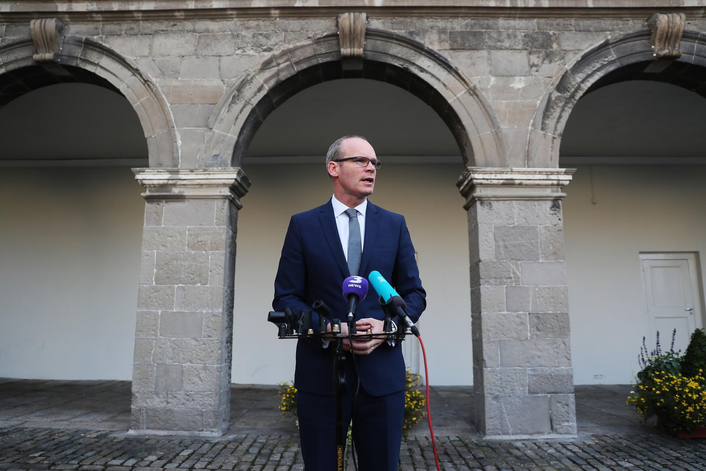 Simon Coveney said the attack was a 'disturbing violation of international law' (Brian Lawless/PA)