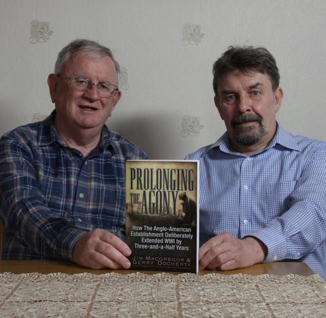 Gerry Docherty, left, and Jim Macgregor, right, with their book Prolonging the Agony