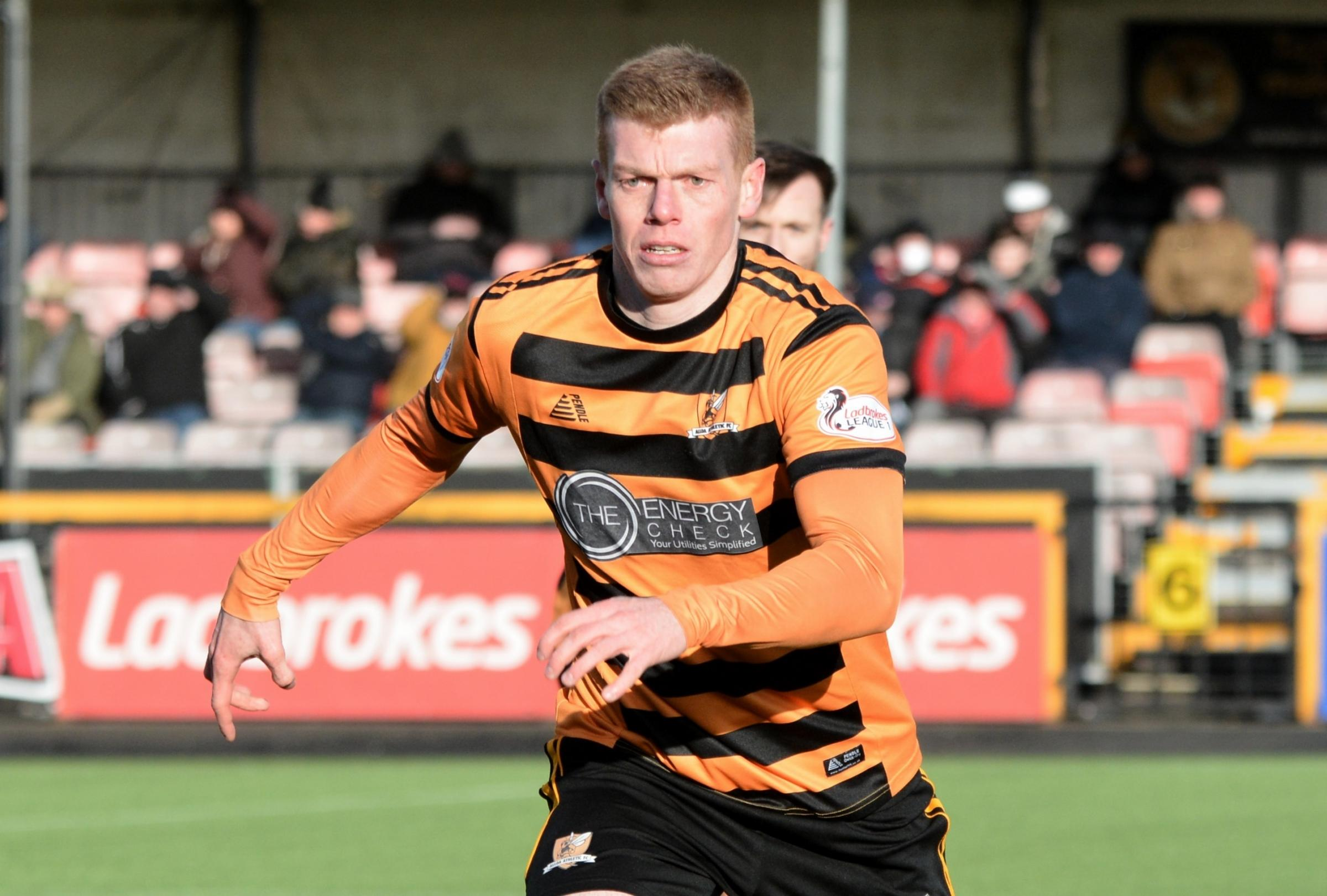 Robertson in action for Alloa earlier this season. Pic by David Glencross