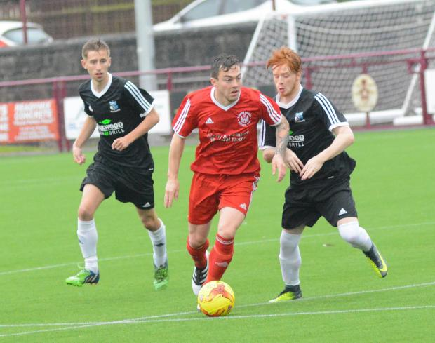 Alloa and Hillfoots Advertiser: Sauchie skipper Brian Morgan in action. Photo: Jan Van Der Merwe