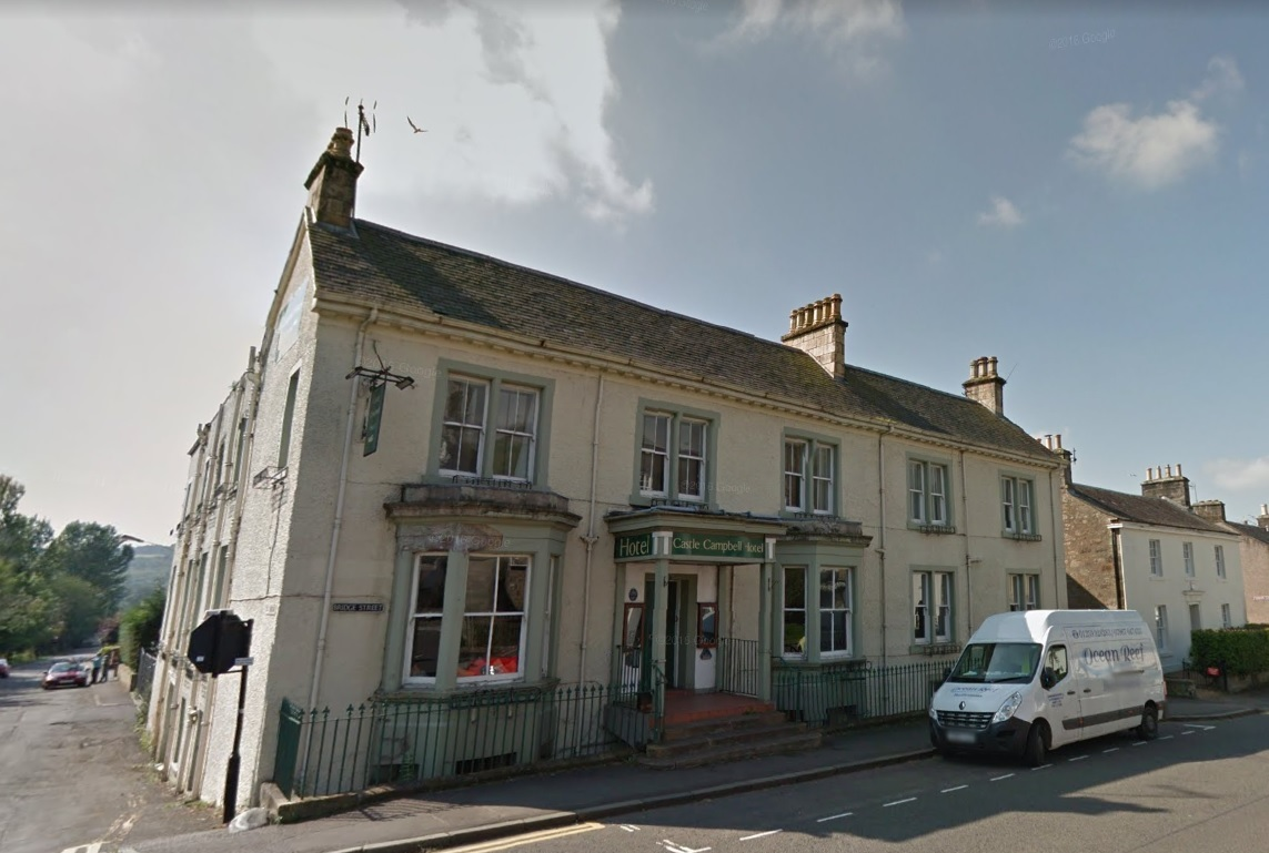 The former Castle Campbell Hotel in Dollar - Image via Google Maps/Street View