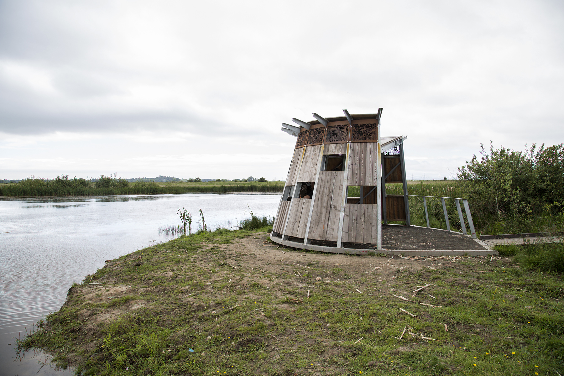 The viewing platform at RSPB Black Devon site. Picture by Ann Callaghan