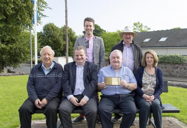 Councillor Derek Stewart (second from the right) has given 30 years to the Sauchie community